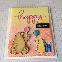 A Splash of Colour by lucie .. MFT birthday bears