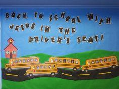Children's Church back to school bulletin board