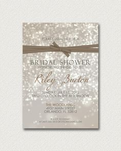 Bokeh Bridal Shower Invitations by LeitsisPieces on Etsy, $15.00