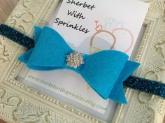 Eloquent Blue Bow Headband Toddler by sherbetwithsprinkles on Etsy, $5.50