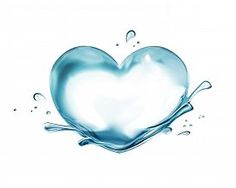 stock photo of transparent heart - Water in the shape of heart on white background - JPG