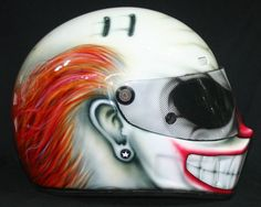 Custom Full Face Motorcycle Helmets | clown