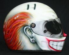 Custom Full Face Motorcycle Helmets   clown
