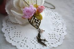 Hey, I found this really awesome Etsy listing at https://www.etsy.com/listing/179229968/adjustable-flying-bird-flower-necklace