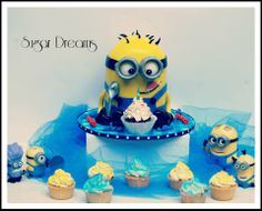 Minion cake....follow us on fb https://www.facebook.com/pages/Sugar-Dreams-Roxboro-/105505442928784