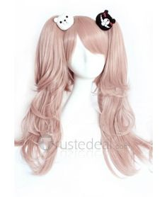 Danganronpa Trigger Happy Havoc Junko Enoshima Cosplay Wig and Hairclips Pink Hair Anime Cosplay Makeup, Cosplay Hair, Lolita Cosplay, Cosplay Wigs, Manga Hair, Anime Hair, Cheap Cosplay Costumes, Cosplay Outfits, Kawaii Wigs