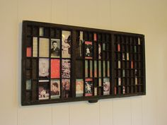 Old letterpress tray as wall art... I'd love one of these!