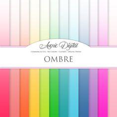 Ombre Digital Paper Backgrounds by AvenieDigital on Creative Market