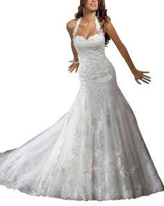 Vogue Bridal Elegant Halter Lace Chapel Train sweep Wedding Dress Vogue Bridal,http://www.amazon.com/dp/B00CNZTDS0/ref=cm_sw_r_pi_dp_--k3rb0V00V78CWE