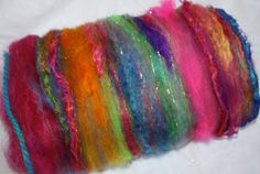 Having Fun Spinning Fiber Art Batt by reneeknits on Etsy, $32.00