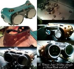 How To Alter a $5 pair of welding goggles into Steampunk Googles by Chris Cracknell.