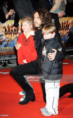 Russell Brand arrives at the UK film premiere of 'Bedtime Stories' at Odeon Kensington on December 11, 2008 in London, England.