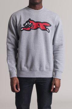 Icecream Running Dog Crew Neck Sweatshirt
