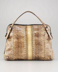 Bottega Veneta Snakeskin Top-Handle Bag