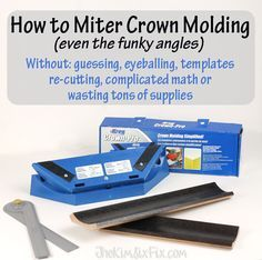 How to Miter Crown Molding with Odd Angles.. without guessing or difficult math and NO COMPOUND MITERS!! #TheKimSixFix