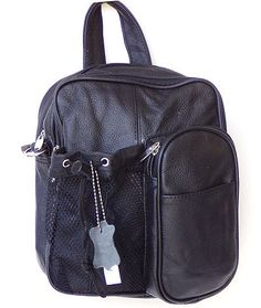 Leather Backpack - Crossbody Bag Style Brown Color
