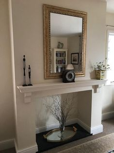 Mantle Fireplace Shelf Over Mantel Floating Piece Victorian Style Solid Pine Wood Kitchen Oven Wall White Mantle Fireplace, Wooden Mantle, Mantle Shelf, Fireplace Shelves, Stove Fireplace, Fireplace Design, Wood Shelves, Fireplace Ideas, Fireplace Remodel
