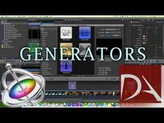 ▶ Motion 5 Generators in #FCPX | Final Cut Pro X Tutorial - YouTube You Need Video Promoting Your Business, Product, Service Or Whatever You Want. Click Here --> http://www.gvcreator.com/