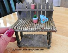 Fairy Potting Bench. ~Created by Nina Eary~