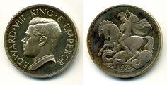 Медаль Великобритания 1936 Эдуард VIII серебро