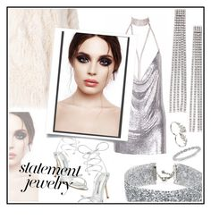 """""""#PolyPresents: Statement Jewelry"""" by ceci4diplomazy ❤ liked on Polyvore featuring DANNIJO, Marc Jacobs, Apples & Figs, Manolo Blahnik, Zadig & Voltaire, contestentry and polyPresents"""