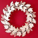 Cardboard Leaf Wreath - christmas decorations