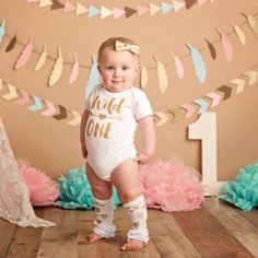 Gold Wild One First birthday Outfit - Wild One Onesie - Baby Birthday Onesie - First Birthday Party Ideas - First Birthday Themes One Year Birthday, Wild One Birthday Party, First Birthday Themes, Baby Girl 1st Birthday, 1st Birthday Outfits, First Birthdays, Birthday Ideas, Fete Emma, Photo Bb