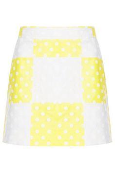 Check Flock Spot Mini Skirt