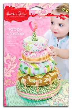 Australian stockist of Heather Bailey sewing patterns Heather Bailey - Happy Stacker Ring Stacker toy pattern Sewing Toys, Baby Sewing, Sewing Crafts, Sewing Projects, Heather Bailey, Baby Accessoires, Diy Bebe, Weekend Projects, Baby Kind