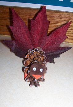 Adorable pine cone turkeys help make a festive Thanksgiving table Thanksgiving Crafts, Thanksgiving Table, Fall Crafts, Holiday Crafts, Crafts For Kids, Arts And Crafts, Holiday Ideas, Holidays And Events, Happy Holidays