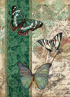 Butterfly Wallpaper, Butterfly Art, Flower Art, Butterfly Mobile, Decoupage Art, Decoupage Vintage, Paper Butterflies, Beautiful Butterflies, Vintage Cards