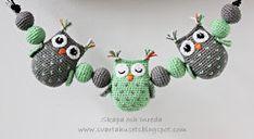 Skapa och Inreda: Mönster på barnvagnsmobil med ugglor Crochet Toys, Crochet Baby, Baby Knitting Patterns, Crochet Patterns, Stick O, Baby Barn, Arts And Crafts, Diy Crafts, Mobiles