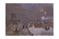 Italy, the Street of Tombs in Pompeii Giclee Print by Giacinto Gigante at AllPosters.com