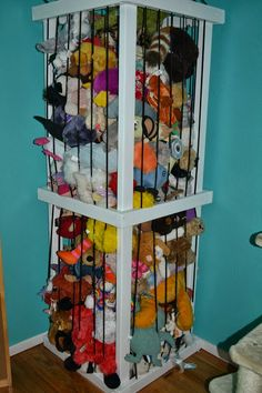 Our stuffed animal zoo.