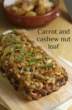 Carrot and cashew nut loaf - only takes 15 minutes to throw together! Great for a veggie Christmas dinner :)