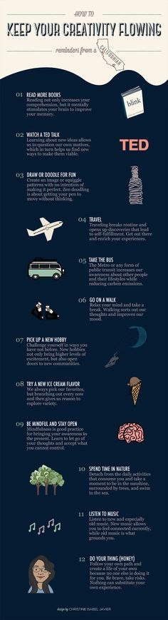 How to Keep Your Creativity Flowing Infographics 20141 How to Keep Your Creativity Flowing | Infographics 2014