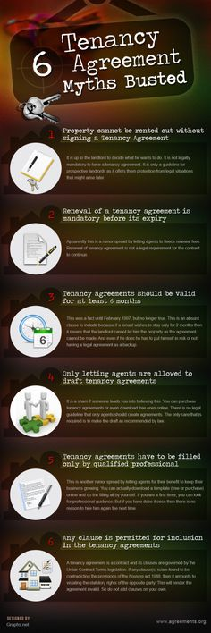 6 Busted Tenancy Agreement Myths (Infographic)