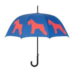 The Dog Park Umbrella: Schnauzer Silhouette from The San Francisco Umbrella Company Schnauzer Dogs, Mini Schnauzer, Miniature Schnauzer, Schnauzers, Walking Sticks, Dog Walking, Black Golden Retriever, Dog Umbrella, Umbrella Company
