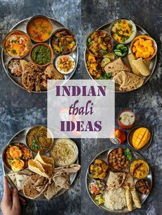 10 Indian Thali Meal Ideas Every region in India has its own version of thali meal. We have got for you 10 Indian thali meal ideas for every day meal menu. Indian Dinner Menu, Dinner Party Menu, Lunch Menu, Indian Meal, Indian Food Menu, Veg Recipes, Indian Food Recipes, Dinner Recipes, Cooking Recipes