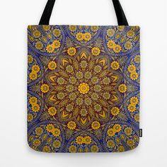 Vintage Morrocan Tile Tote Bag by Blooming Vine Design - $22.00
