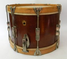 Vintage Old School Field Marching Snare Drum WFL Mahogany