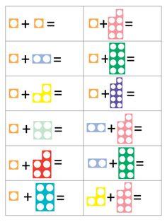 Resultado de imagen de numicon printables Numicon Activities, Preschool Worksheets, Preschool Math, Math Resources, Numeracy, Teaching Math, Maths Eyfs, Math Tables, Primary Maths