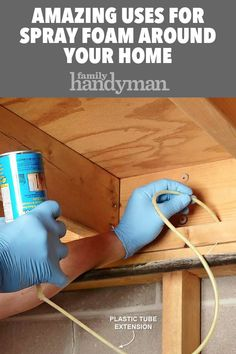 Incredible ways to use spray foam around your house! Incredible ways to use spray foam around your house! House Cleaning Tips, Cleaning Hacks, Expanding Foam Insulation, Energy Saving Tips, Spray Foam, Easy Woodworking Projects, Fine Woodworking, Home Repairs, Clean House