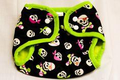 girly skull water proof diaper cover