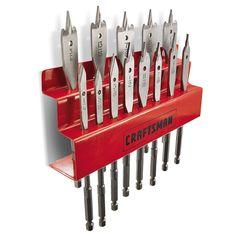 Craftsman 13 pc. Spade Bit Set with Metal Storage Rack - Tools - Power Tool Accessories - Drill Bits