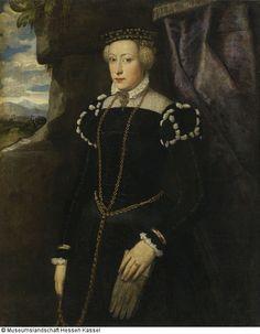2. H. 16. Jh., Bildnis der Elenora Gonzaga (Venezianisch [1]) - Onlinedatenbank der Gemäldegalerie Alte Meister Kassel