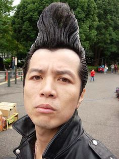 Japanese Rockabilly Hair | Cool Men's Hairstyles Pictures & Styling Tips    THAT'S FUNNY, LOL