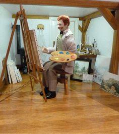 Maleratelier, 1:12 Der Meister bei der Arbeit