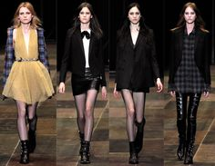 Saint Laurent Fall 2013 - Hedi Slimane 's creations took a youthful, grungy turn this season | Olivia Palermo's Style Blog and Website