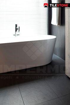 leisteen, imitatie leisteen, badkamertegel, vloer badkamer, moderne badkamer, zwarte tegel, keramische tegel, volkeramisch, slijtvast, moderne tegel, moderne badkamer, strakke tegel, impermo, tilestone, goedkope tegel